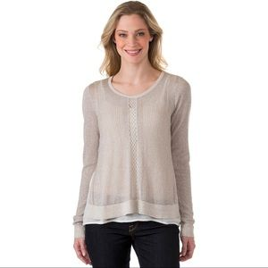 Lucky Brand Metallic Pullover Sweater